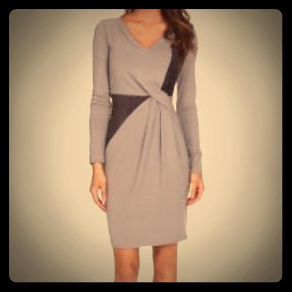 6733a9d2d FINAL DROP NYDJ Sahara Heather Grey Dress